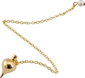 Bild på Pendel: rund droppe – small (mässing)
