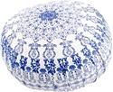 Bild på Meditationskudde: rund mandala (blå och vit)