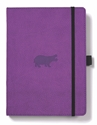Bild på Dingbats* Wildlife A5+ Purple Hippo Notebook