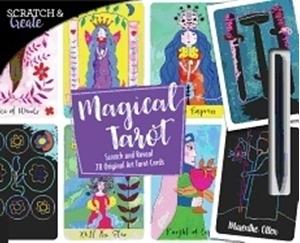 Bild på Scratch & create magical tarot - scratch and reveal 78 original art tarot c